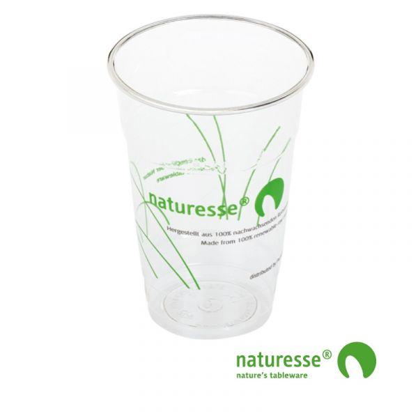 Glas i PLA 2,5dl Ø76mm med logoprint - 1.000 stk krt *