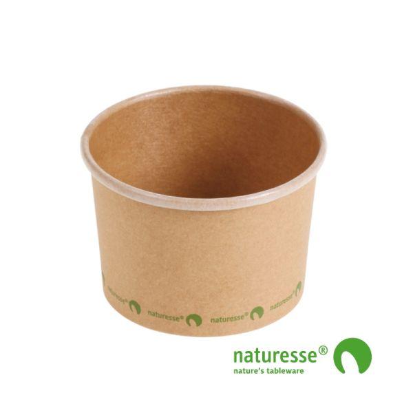 Suppe bæger i karton/PLA 8oz / 240ml, FSC MIX CREDIT - 25 stkpk *