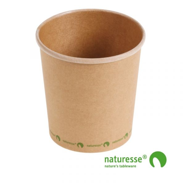 Suppe bæger i karton/PLA 16oz / 480ml, FSC MIX CREDIT - 500 stk krt *