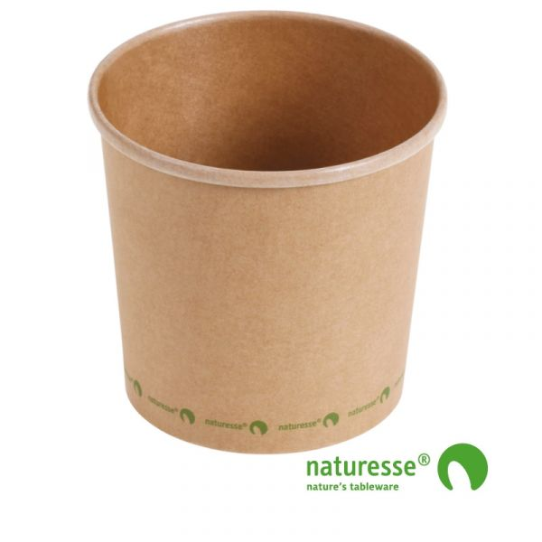 Suppe bæger i karton/PLA 26oz / 750ml, FSC MIX CREDIT - 375 stk krt *