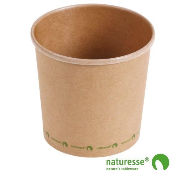 Suppe bæger i karton/PLA 26oz / 750ml, FSC MIX CREDIT - 25 stk pk *