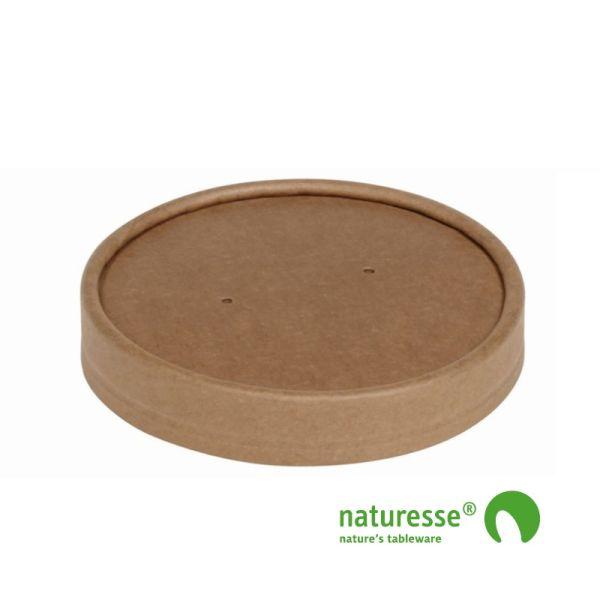 Suppe bæger i karton/PLA, låg til 26oz & 32oz, FSC MIX CREDIT - 25 stk pk