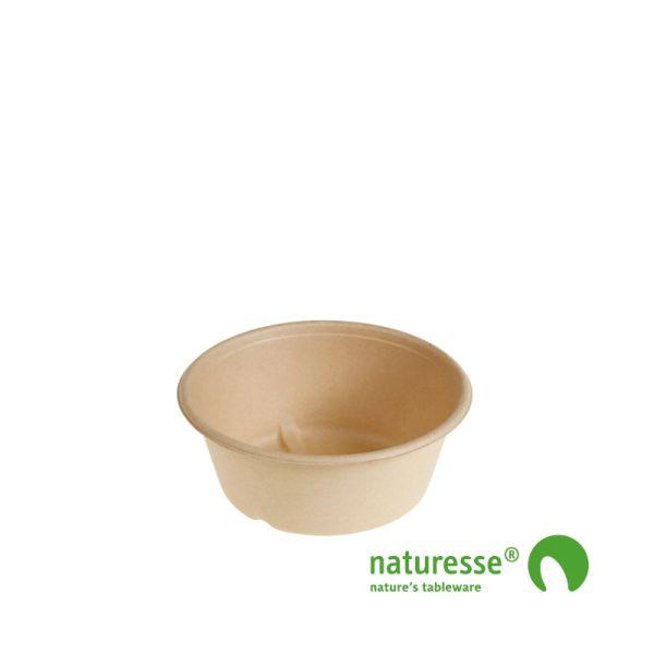 Bowl i sukkerrørsfiber natur 600ml, Ø151x60mm - 60 stk pk