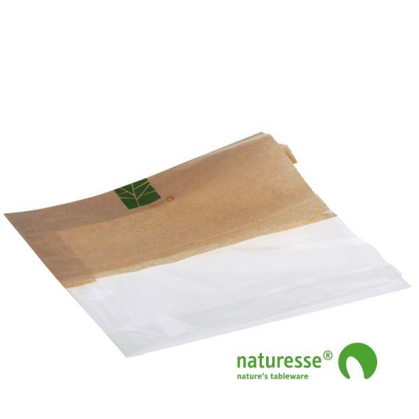 Sandwichpose i PaperWise/PLA, ½ - ½, 330x120x2x30mm - 500 stk krt