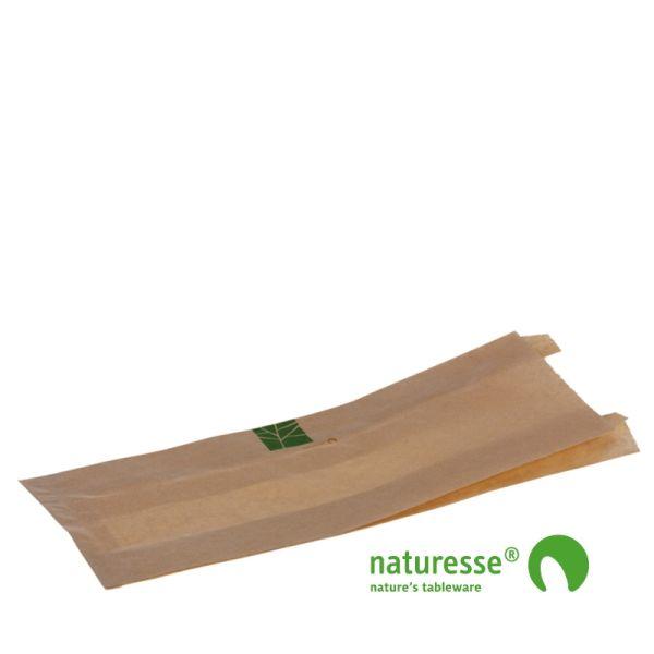 Brødpose i PaperWise, 330x120x2x30mm - 500 stk krt