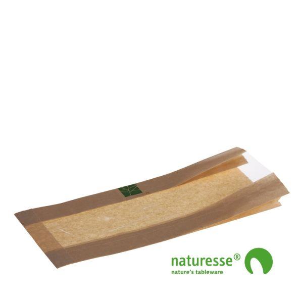 Sandwichpose m vindue i PaperWise/PLA, 370x160x2x40mm - 500 stk krt