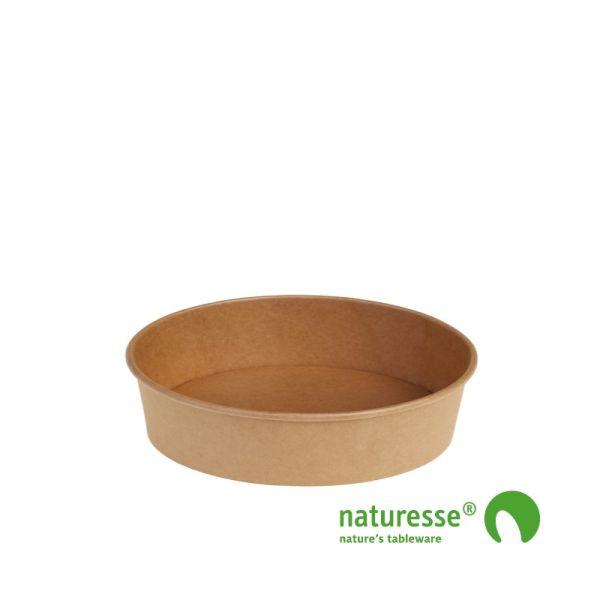 Salat bæger i Karton/PLA natur, Ø150x45mm, FSC MIX CREDIT - 480ml - 60 stk pk