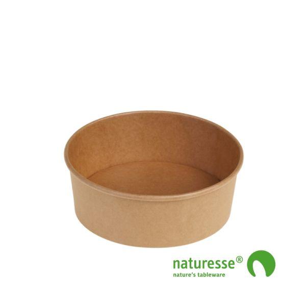 Salat bæger i Karton/PLA natur, Ø150x60mm - 680ml, FSC MIX CREDIT - 250 stk krt