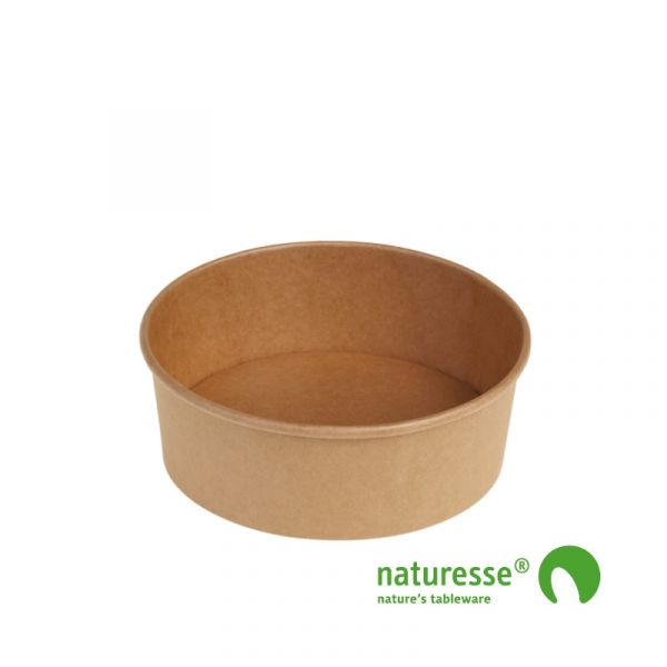 Salat bæger i Karton/PLA natur, Ø150x60mm - 680ml, FSC MIX CREDIT - 50 stk pk
