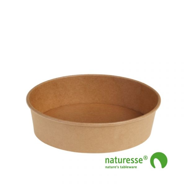 Salat bæger i Karton/PLA natur, Ø185x49mm - 840ml, FSC MIX CREDIT - 180 stk krt