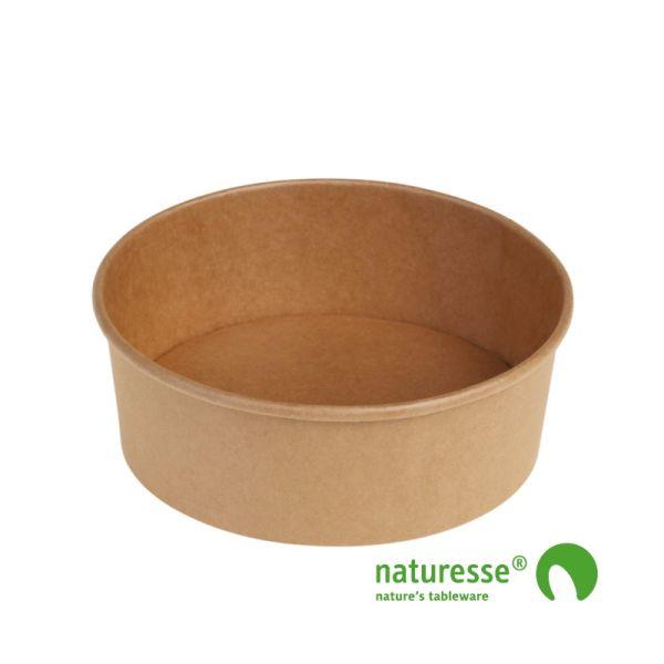 Salat bæger i Karton/PLA natur, Ø185x66mm - 1.200ml, FSC MIX CREDIT - 40 stk pk