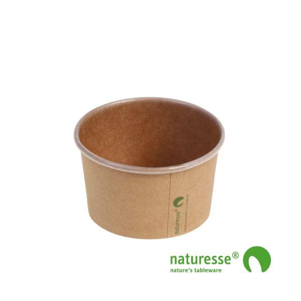 Isbæger i Karton/PLA 150ml i brunt design, FSC MIX CREDIT - 1000 stk karton *