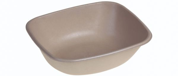 SR-fiber - natur m bio coatning, Bowl 900ml, 195x170x56mm - 500 stk krt