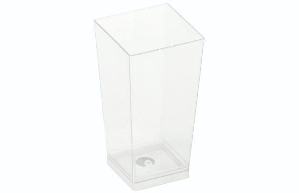 PLA - KOVA dessert glas, 100ml, 40x40x82mm - 300 stk krt *