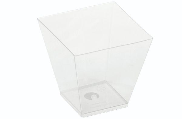 PLA - KOVA dessert glas, 220ml, 72x72x72mm - 400 stk krt *