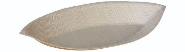 Palmeblad, Tallerken Øje, 280x150x30mm - 25 stk pk*