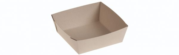 Bambuskarton, Takeaway box PLA coated, 115x115x40mm - 400 stk krt