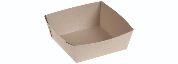 Bambuskarton, Takeaway box PLA coated, 135x135x50mm - 400 stk krt