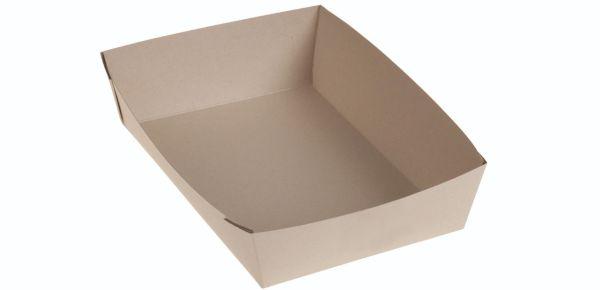 Bambuskarton, Takeaway box PLA coated, 215x135x40mm - 400 stk krt