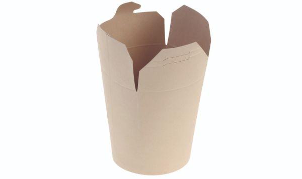 Bambuskarton, Chinabox PLA coated, 900ml/32oz Ø95x115mm - 500 stk krt