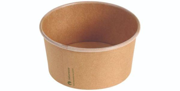 Karton/PLA / natur, Salat bæger, 16oz / 480ml Ø120x60mm - 500 stk krt*