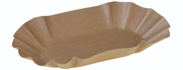 Karton Kraft bakke, 220x140x37mm, FSC MIX CREDIT - 1000 stk krt*