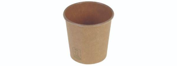Kaffebæger 1dl/4oz, Ø60mm, brun kraft, FSC MIX CREDIT - 1000 stk krt*