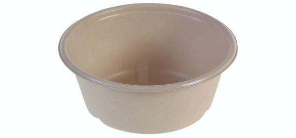 SR-fiber / natur, Bowl 600ml, Ø151x60mm, bio coated - 60 stk pk