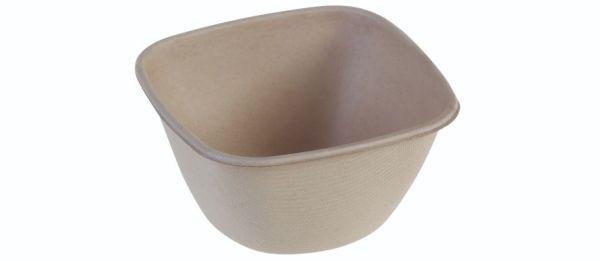 SR-fiber / natur, Bowl 500ml, 120x120x65mm - 100 stk pk*