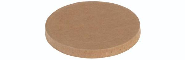 Karton/PLA / natur, Låg rundt til bæger Ø120mm - 400 stk krt
