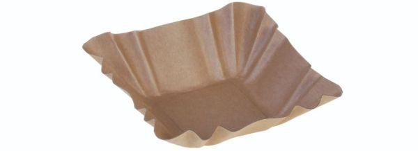 Karton Kraft dip skål, 90x90x30mm, FSC MIX CREDIT - 2000 stk krt*