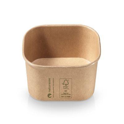 Bowl kraft/PLA, 125x105x50mm, 375ml - 500 stk krt