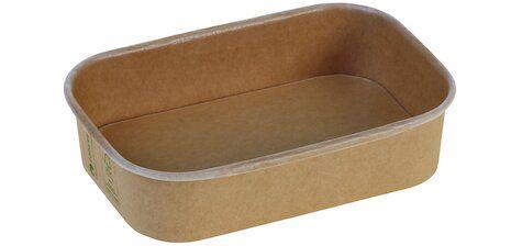 Karton/PLA / natur, NY Transportbakke, 173x120x40mm, 500ml - 50 stk. pk
