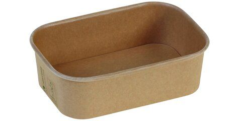 Karton/PLA / natur, NY Transportbakke, 173x120x51mm, 650ml - 300 stk krt