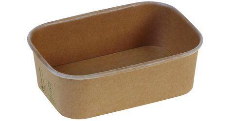 Karton/PLA / natur, NY Transportbakke, 173x120x57mm, 750ml - 300 stk krt