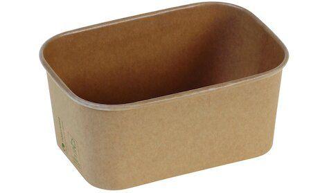 Karton/PLA / natur, NYTransportbakke, 173x120x75mm, 1000ml - 50 stk. pk