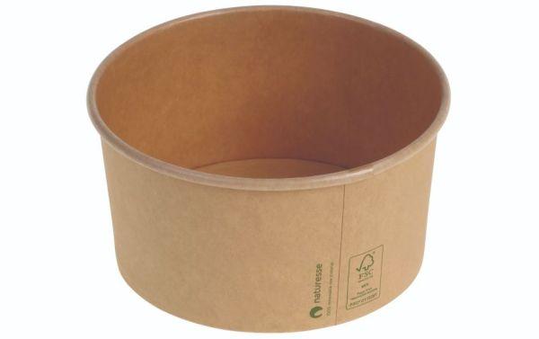 Karton/PLA / natur, Salat bæger Ø150x78mm, 1.000ml, FSC MIX CREDIT - 300 stk krt