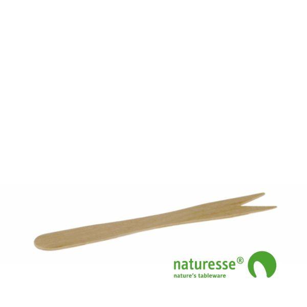 Gaffel i træ - ubehandlet