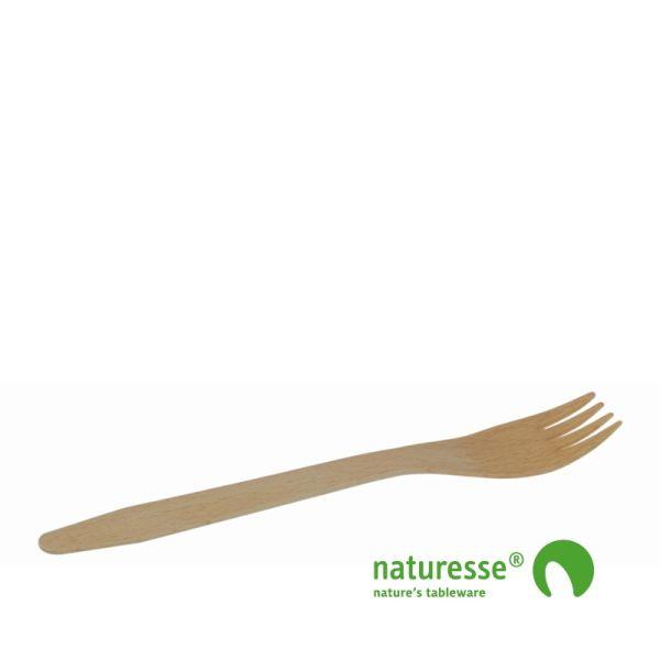 Gaffel i træ - ubehandlet, 165mm, FSC® 100% træ - 100 stk pk *