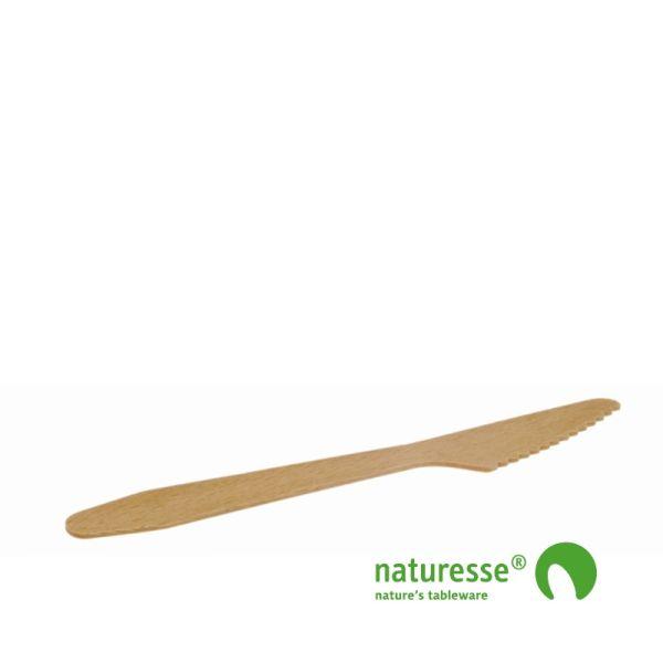 Kniv i træ - ubehandlet, 165mm, FSC 100% - 2.500 stk krt *