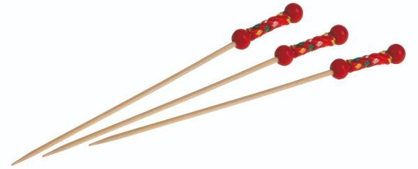 Bambus, Pindemadspind Fuji rød 120mm - 4000 stk krt