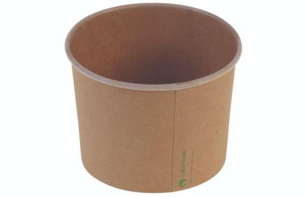 Karton krafted/PLA, Isbæger m logoprint, Ø105mm 480ml / 16oz - 500 stk krt*