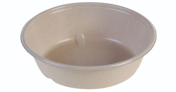 SR-fiber / natur, Bowl 900ml, Ø195x52mm, bio coated - 640 stk krt - UDGÅR