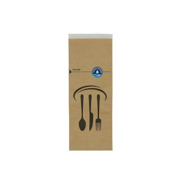 rPapir bestikpose 10 x 26 cm, selvklæbende, brun - 2000 stk krt